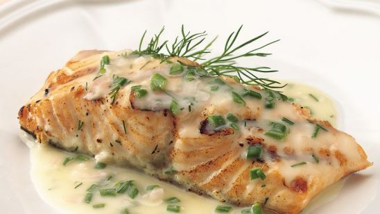 Baked Herb Fish With Lemon Butter Sauce