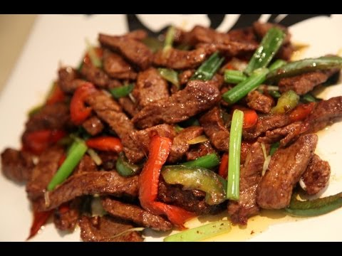 Stir Fry Beef With Chili Green Paper